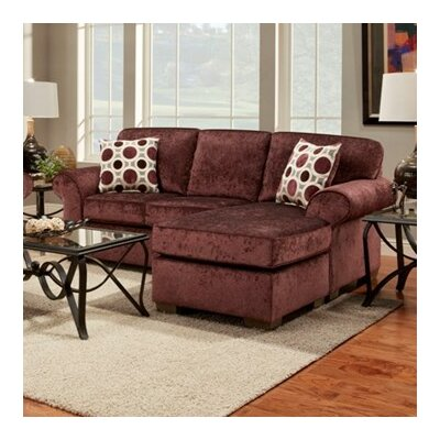 Shearson Sectional Upholstery: Burgundy
