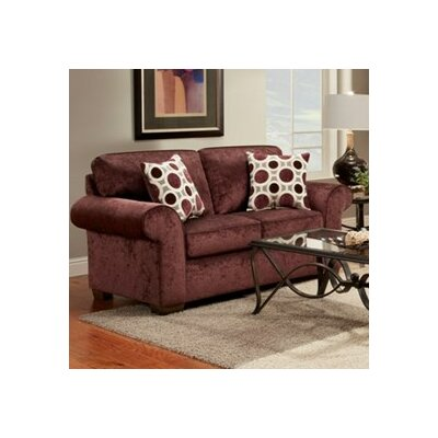 Shearson Loveseat Upholstery: Burgundy