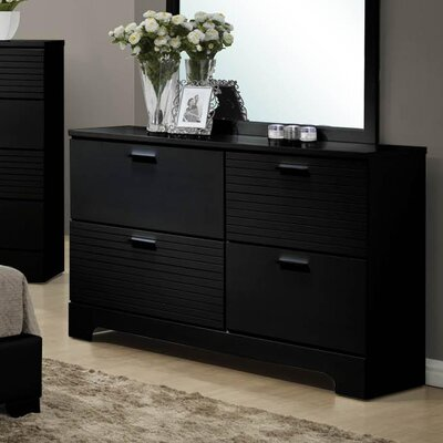Moderno 4 Drawer Standard Dresser Finish: Black