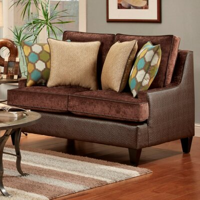 Monte Carlo Loveseat Upholstery: Chocolate