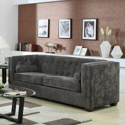 Alexandra Sofa Upholstery: Charcoal
