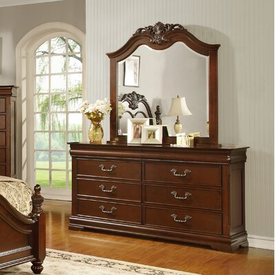 Celine 6 Drawer Dresser with Mirror