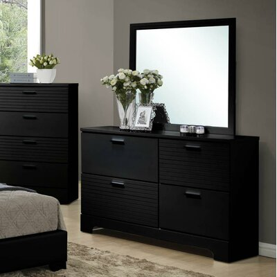 Moderno 4 Drawer Dresser with Mirror