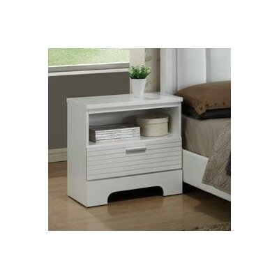 Moderno 1 Drawer Nightstand Color: White