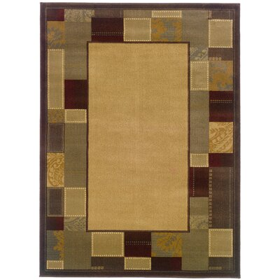 Garmon Beige/Brown Area Rug Rug Size: Rectangle 910 x 129