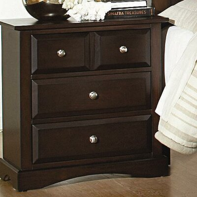 Annawan 3 Drawer Nightstand
