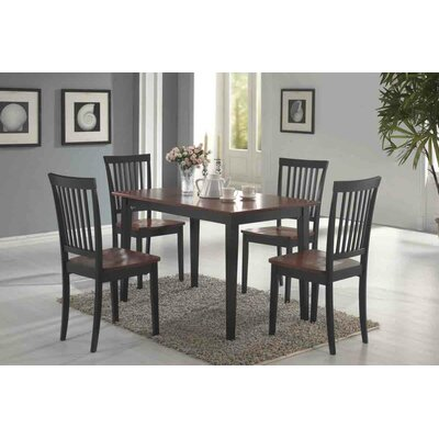 Eagar 5 Piece Dining Set Finish Dark and Cherry