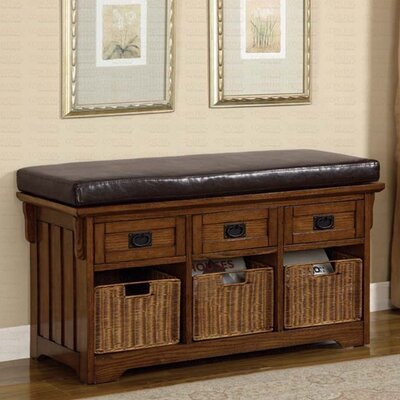 Hemlock Wooden Entryway Storage Bench LOON1319 25474105