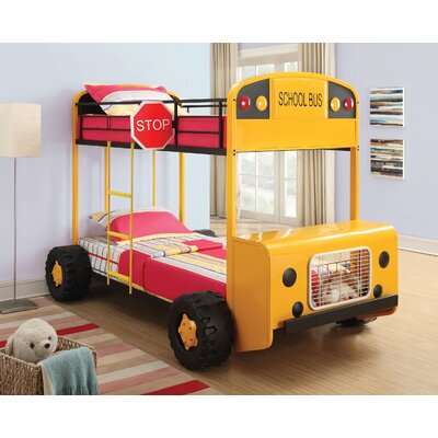 School Bus Twin Bunk Bed