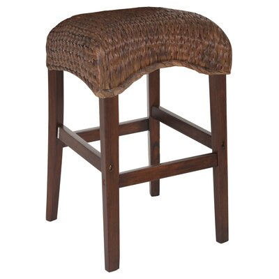 Harleigh 24 inch Bar Stool Upholstery: Dark Brown