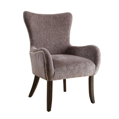 Wingback Chair Upholstery: Grey
