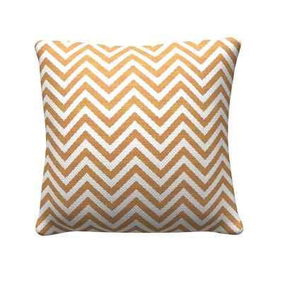 Chevron Throw Pillow Color: Orange