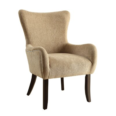 Wingback Chair Color: Beige