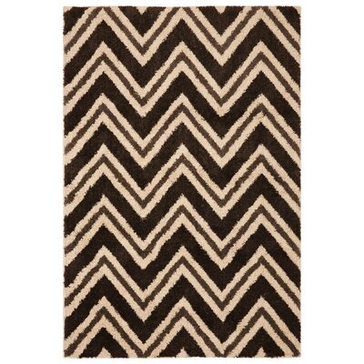 Black/Gold Area Rug Rug Size: 8 x 11