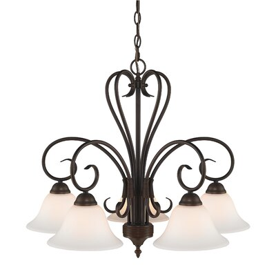 Castleford 5-Light Shaded Chandelier