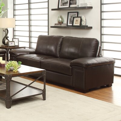 614072 CST16788 Wildon Home Leather Sofa