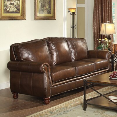 614092 CST16790 Wildon Home Leather Sofa