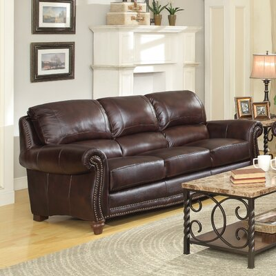 615702 CST16793 Wildon Home Leather Sofa
