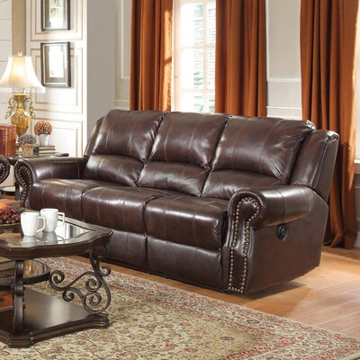 650161 CST16843 Wildon Home Leather Motion Reclining Sofa