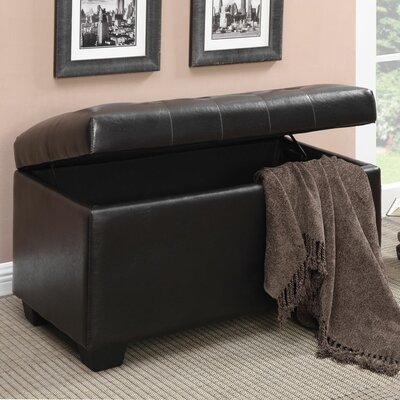 Casey Faux Leather Ottoman Upholstery: Chocolate