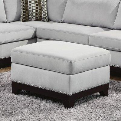 Storage Ottoman Upholstery: Grey Blue