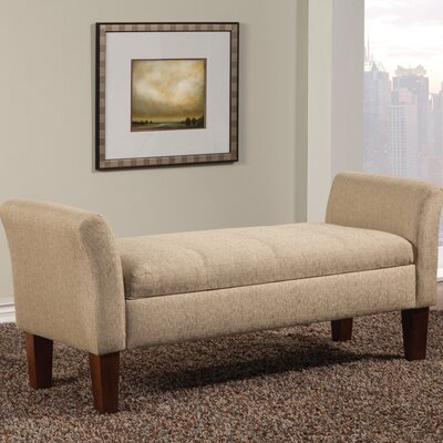 Upholstered Storage Bedroom Bench Color: Tan