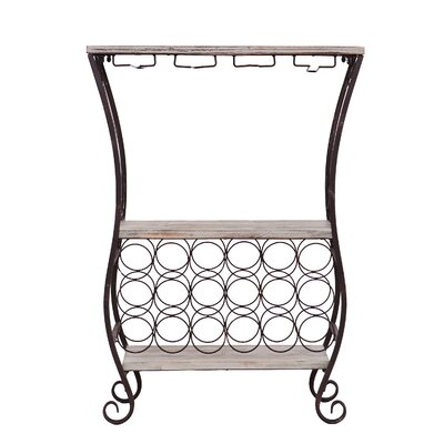 Andria 18 Bottle Floor Wine Rack