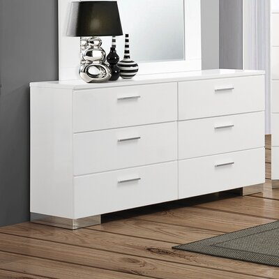 Felicity 6 Drawer Double Dresser