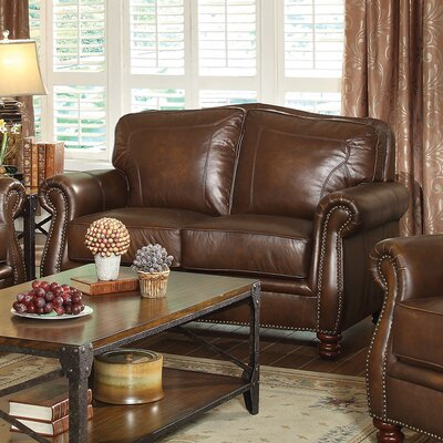 614093 CST17299 Wildon Home Leather Loveseat