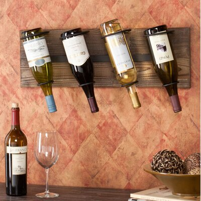 Wicklow 4 Bottle Wall Mounted Wine Rack
