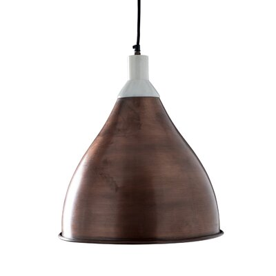 Benton 1-Light Pendant Light Shade Color: Copper