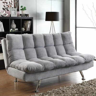 500775 CST14256 Wildon Home Convertible Sofa in Light Grey