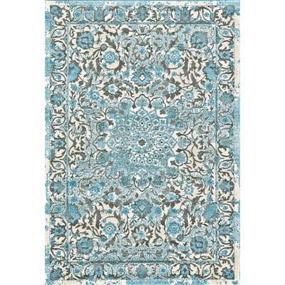 Carabury Blue Area Rug Rug Size: Rectangle 5 x 8
