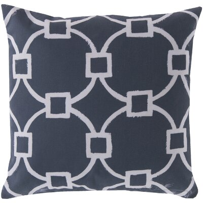Glamorously Geometric Throw Pillow Size: 18, Color: Blue
