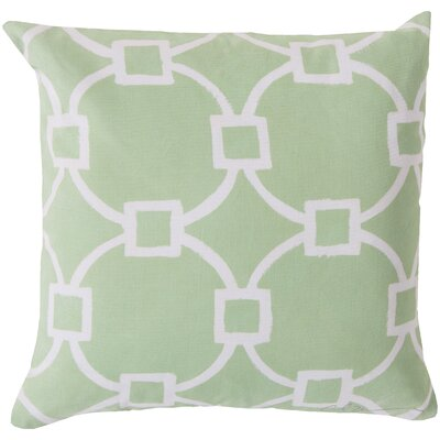 Glamorously Geometric Throw Pillow Size: 18, Color: Green