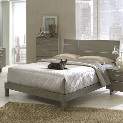 Violet Panel Bed Size: King