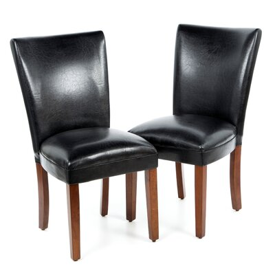 Palo Alto Parsons Chair Upholstery: Black