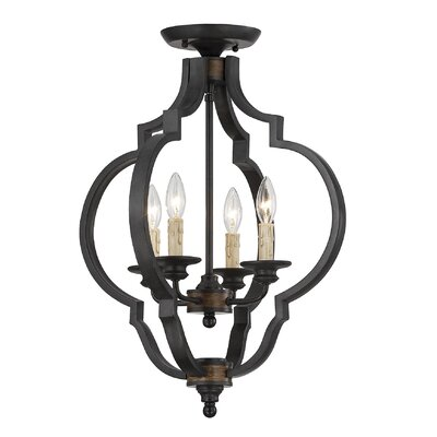 Urler 4-Light Convertible Semi Flush Mount