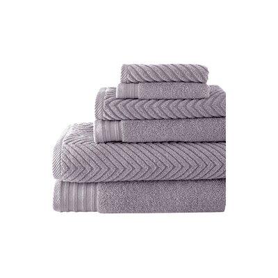 Hamilton 6 Piece Towel Set Color: Gray Violet