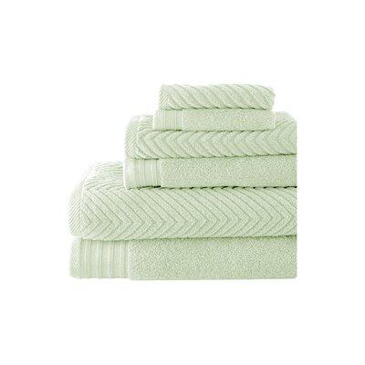 Hamilton 6 Piece Towel Set Color: Soft Jade