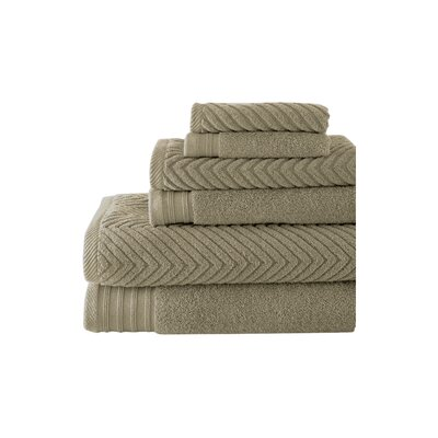 Hamilton 6 Piece Towel Set Color: Taupe