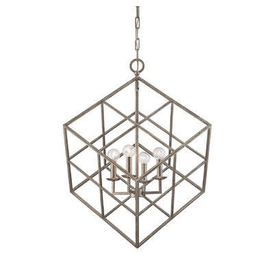 Glendale 4-Light Mini Pendant Finish: Argentum