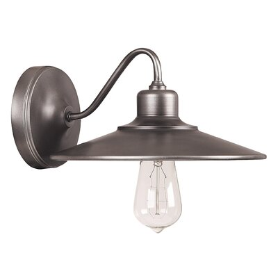 Atlantic 1-Light Wall Sconce Finish: Graphite