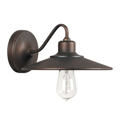 Atlantic 1-Light Wall Sconce Finish: Burnished Bronze