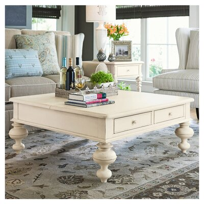 Paula Deen Home Put Your Feet Up Coffee Table with Lift-Top Finish: Linen