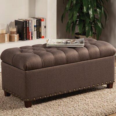 Upholstered Storage Bedroom Bench Color: Dark Navy Blue