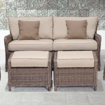 Abana 3 Piece Sofa and Ottoman Set