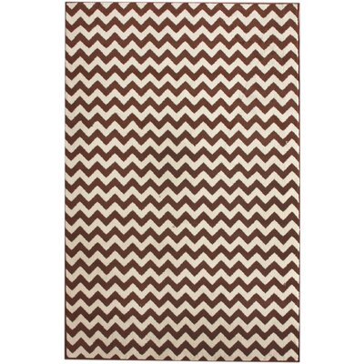 Allure Brown/Ivory Chevron Area Rug Rug Size: Rectangle 28 x 411
