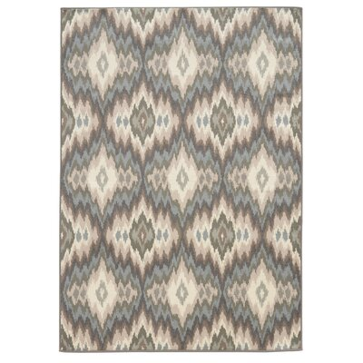 Concord Ivory/Blue Area Rug Rug Size: Rectangle 67 x 93