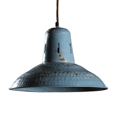 Corduff 1-Light Inverted Pendant Finish: Vintage Blue